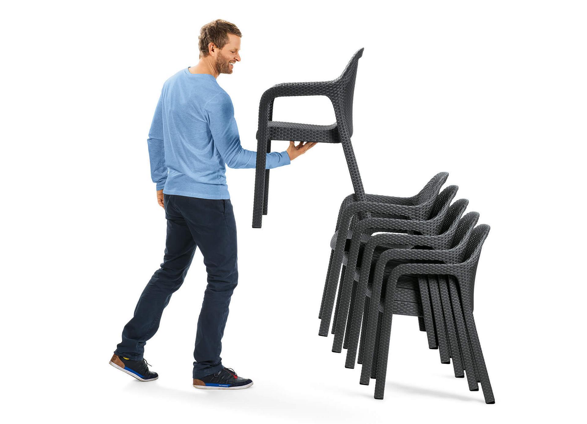 Židle stohovatelnost