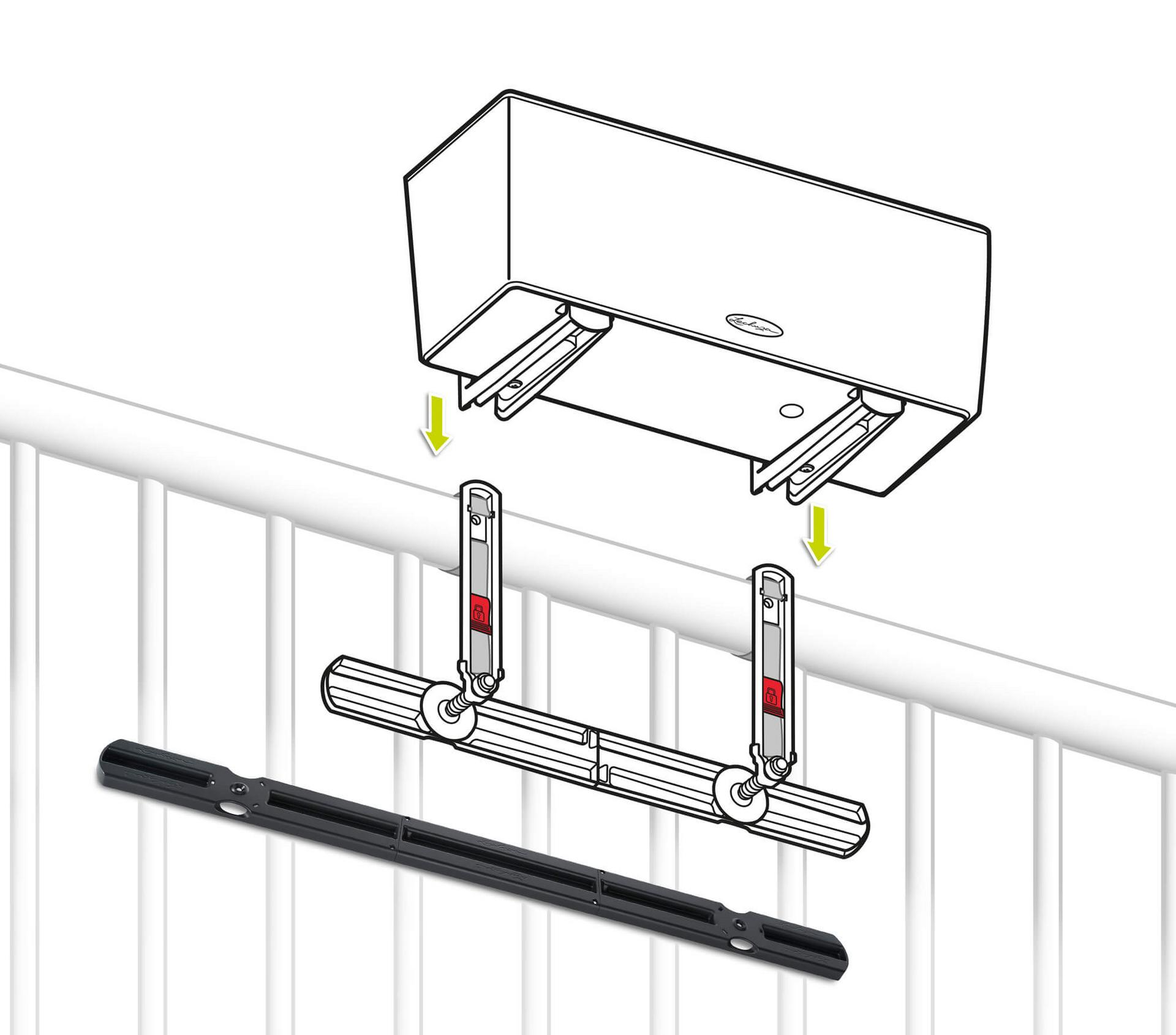 Balconera opěrka na zábradlí