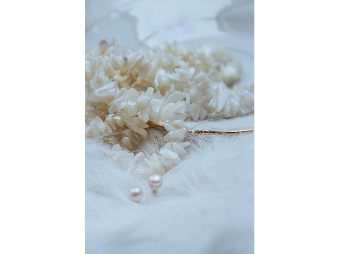 Náramek perleť bílá