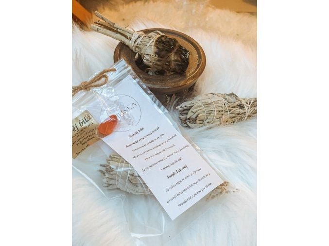 Šalvěj bílá - jaspis červený