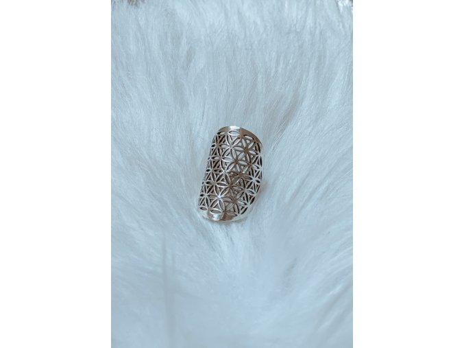 Prsten květ života - stříbrný