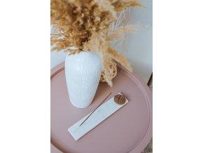Mramorový stojánek na vonné tyčinky - květ života