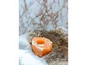 Kalcit svícen - oranžový