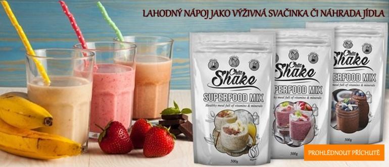 Chia shake - náhrada jídla - výživný nápoj