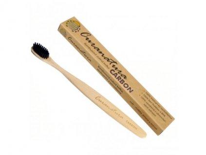 Bambusový zubní kartáček Carbon s bělícím účinkem
