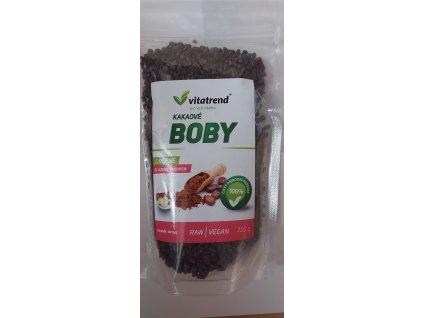 Kakaové boby drcené , slazené yaconem 250g