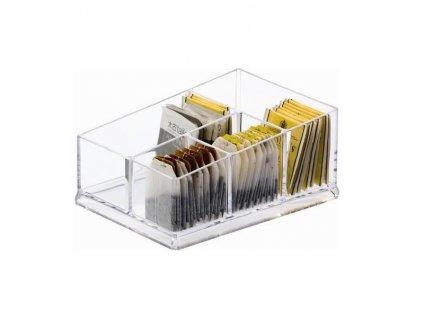 PGX 2470 195 Box na čaj 4 přihrádky dělený 19,5 x 14 x 8,5 cm