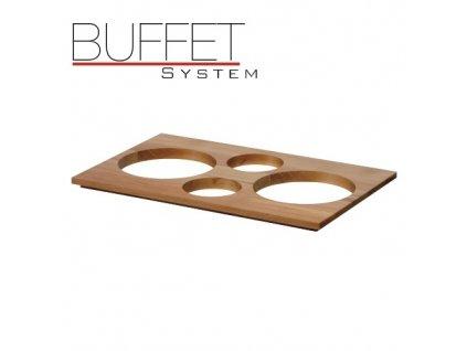 PGX 40010.H Buffet system - nástavec k modulu 4 světlý světlý buk