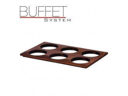 PGX 40011.D Buffet system - nástavec k modulu 6 tmavý tmavý buk