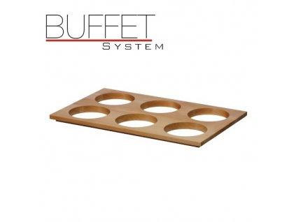 PGX 40011.H Buffet system - nástavec k modulu 6 světlý světlý buk