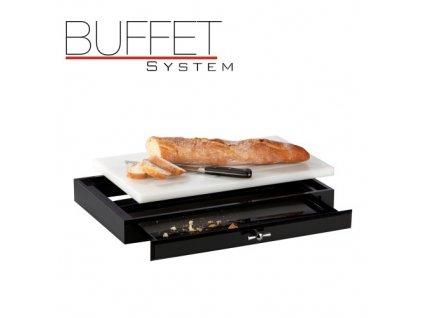 PGX 40082 Buffet system - Krájecí prkno na pečivo s šuplíkem 52,2 x 32,2 x 6,5 cm
