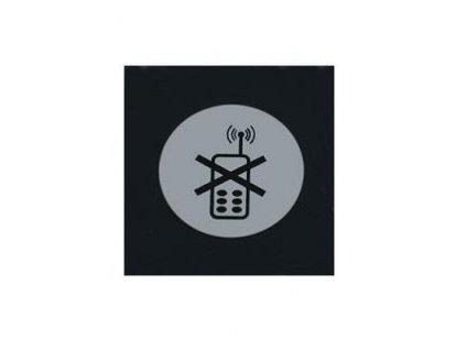 PGX 4302 010 Štítek samolepící ZÁKAZ TELEFONOVÁNÍ nerez zákaz telefonování