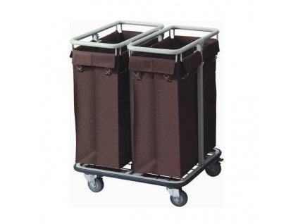 PGX 4421 002 Dvojitý úklidový vozík pro pokojské 68 x 65 x 93 cm