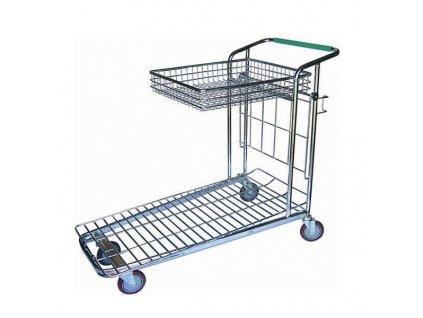 PGX 4427 001 Pozinkovaný zavazadlový vozík 120 x 55/46 cm