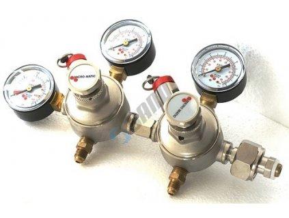 LINDR Redukční ventil CO2 G 3/4 Dvoustup