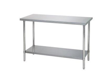Bartscher 601.712 Pracovní stůl - plná police 1200 (Š) x 700 (H) x 860-900 (V) mm