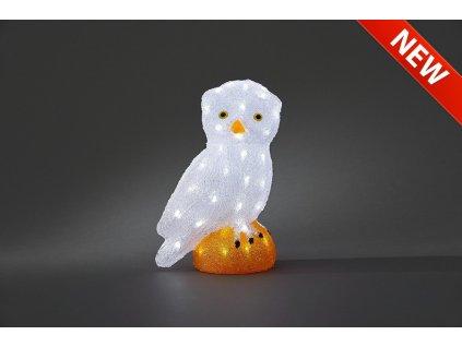 Sova 6185-203, 32 bílých LED, výška 27,5 cm, šířka 19,5 cm                         KONST