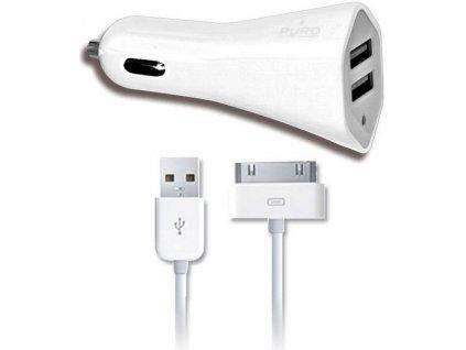 PURO 2x USB Autonabíječka port s kabelem