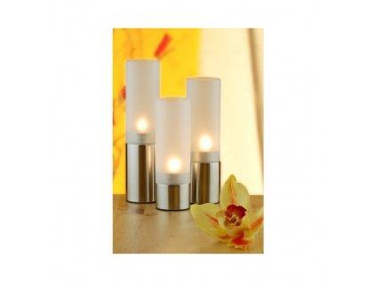 PGX 8111 Svícny na čajové svíčky  - 3 ks 15,5 / 18 / 20,5 cm