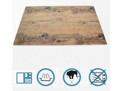 PGX 9725 012 Plato bufetové melamin - dřevěný dekor GN 1/2