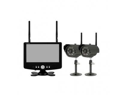 OPTEX 990555 CAM 555 Monitorovací bezdrátová sada vnitřních 2 kamer + monitoru