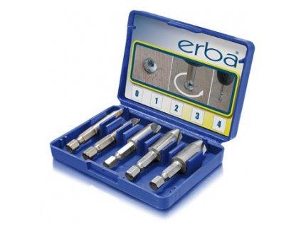 Sada pro odstraňování poškozených šroubů 5 ks ERBA ER-03003