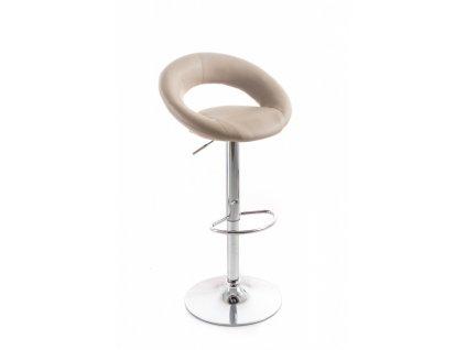 Barová židle G21 Orbita koženková coffee