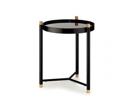 Stolek koupelnový OAK kov/dřevo KELA KL-24266