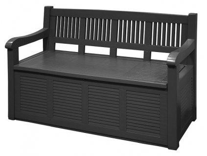 Zahradní lavice s úložným prostorem 130x60x85cm