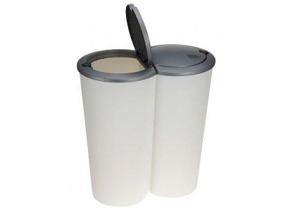 Koš odpadkový dvojitý 2 x 25 l bílá EXCELLENT KO-Y54980880