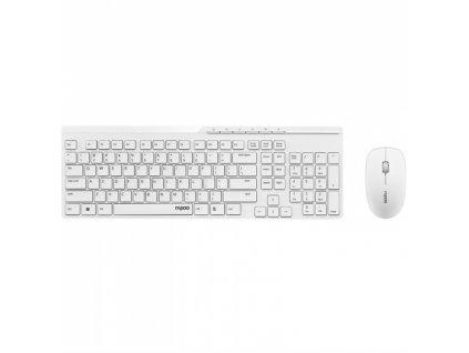 Klávesnice s myší Rapoo X8100, CZ+SK layout - bílá