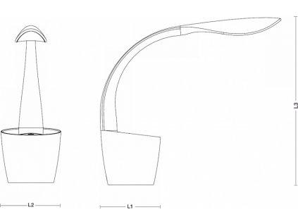 VELAMP stmívatelná stolní LED lampička SWAN TL1612N