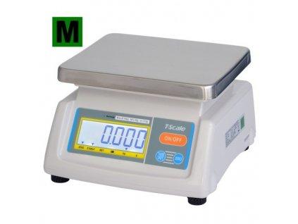 TSCALE T28-15D Váha gastro do 15 kg + Doprava zdarma