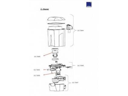 Motor k sacím jednotkám ALDES 1400W