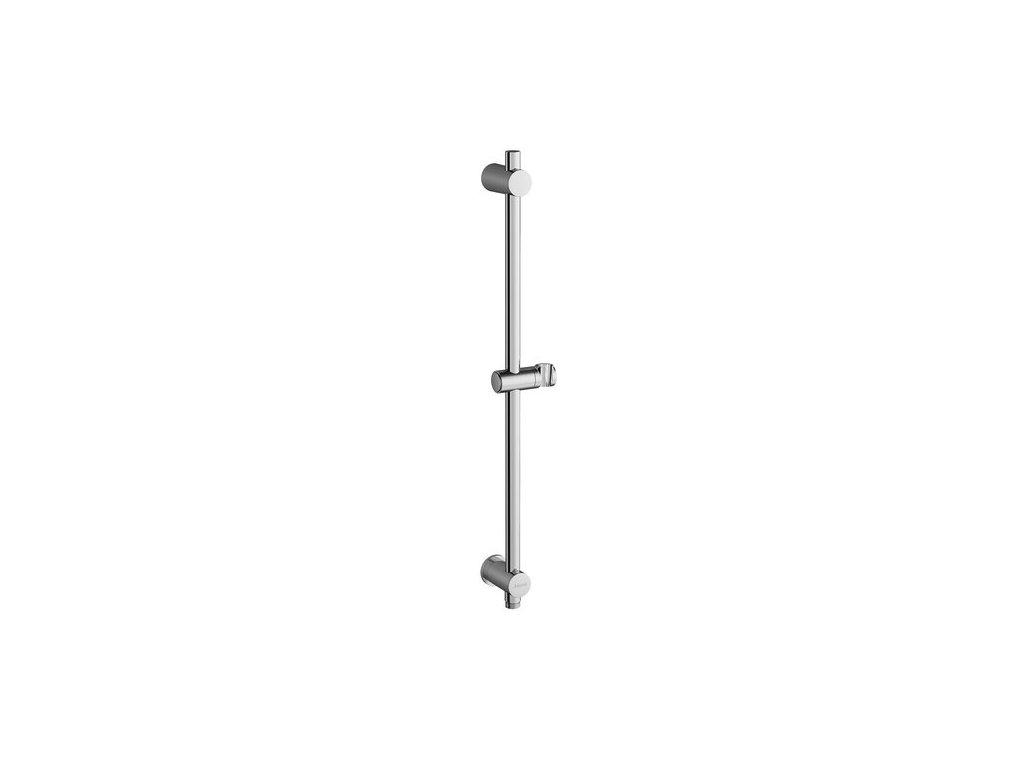 Ravak sprchová tyč s posuvným držákem sprchy a stěnovým vývodem, 60 a 90 cm