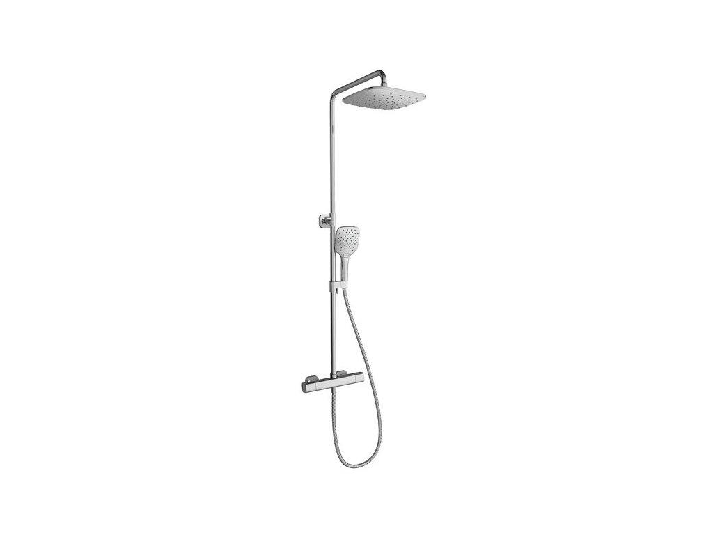 Ravak sprchový sloup 10° s termostatickou baterií a sprchovým setem - TD 091.00/150
