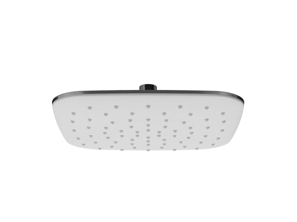 Ravak hlavová čtvercová sprcha ABS, 25 cm, bílá - 983.10