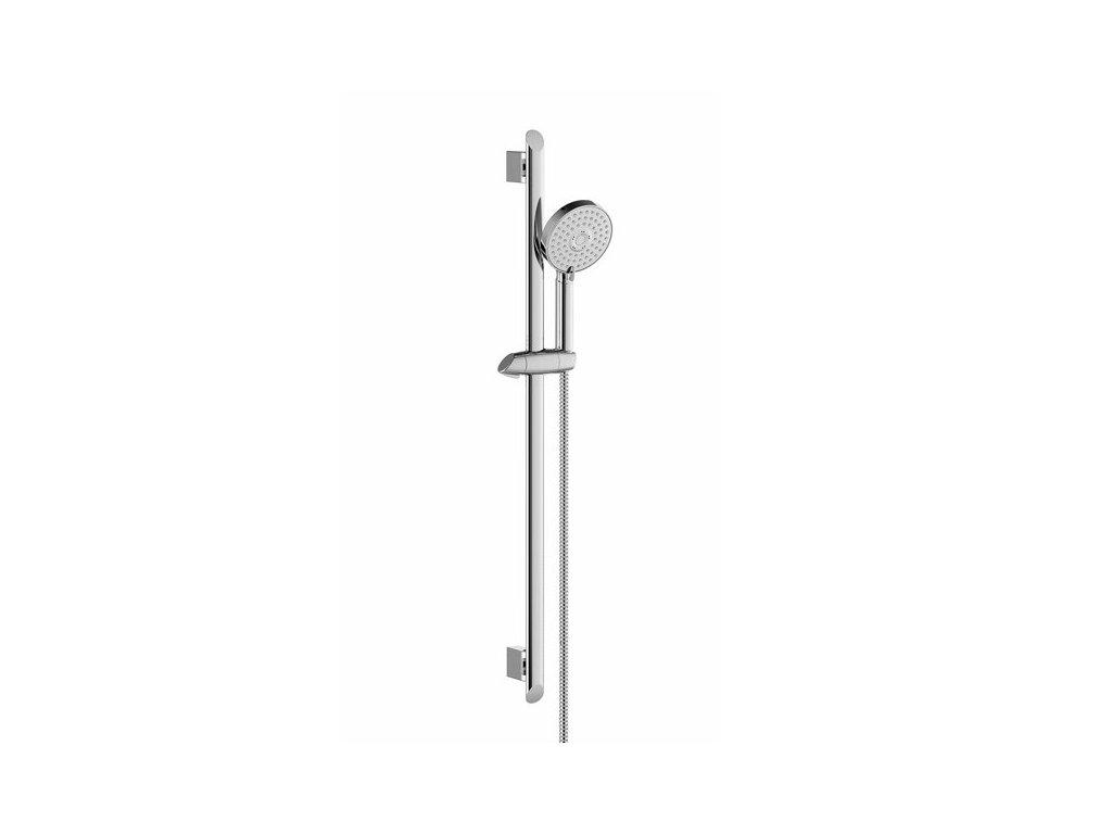 Ravak sprchový set, hadice 150 cm, ruční sprcha Flat M - 3 funkce, tyč 63 cm - 902.00