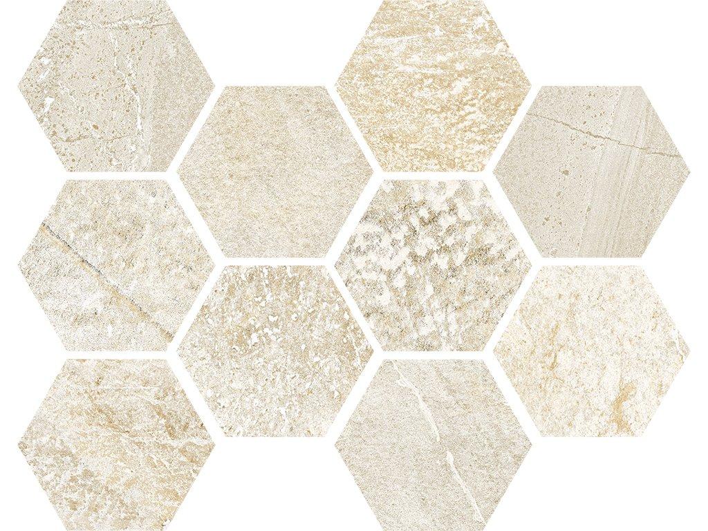 Traveller beige hexagon web