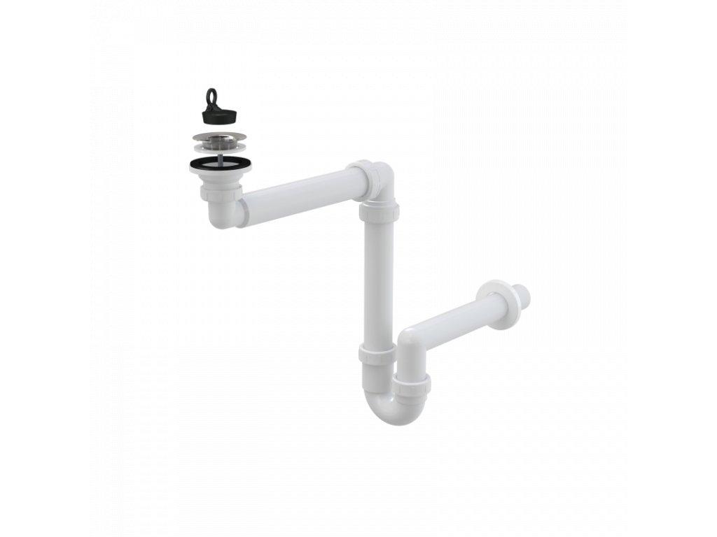 Prostorově úsporný umyvadlový sifon DN63 - A413