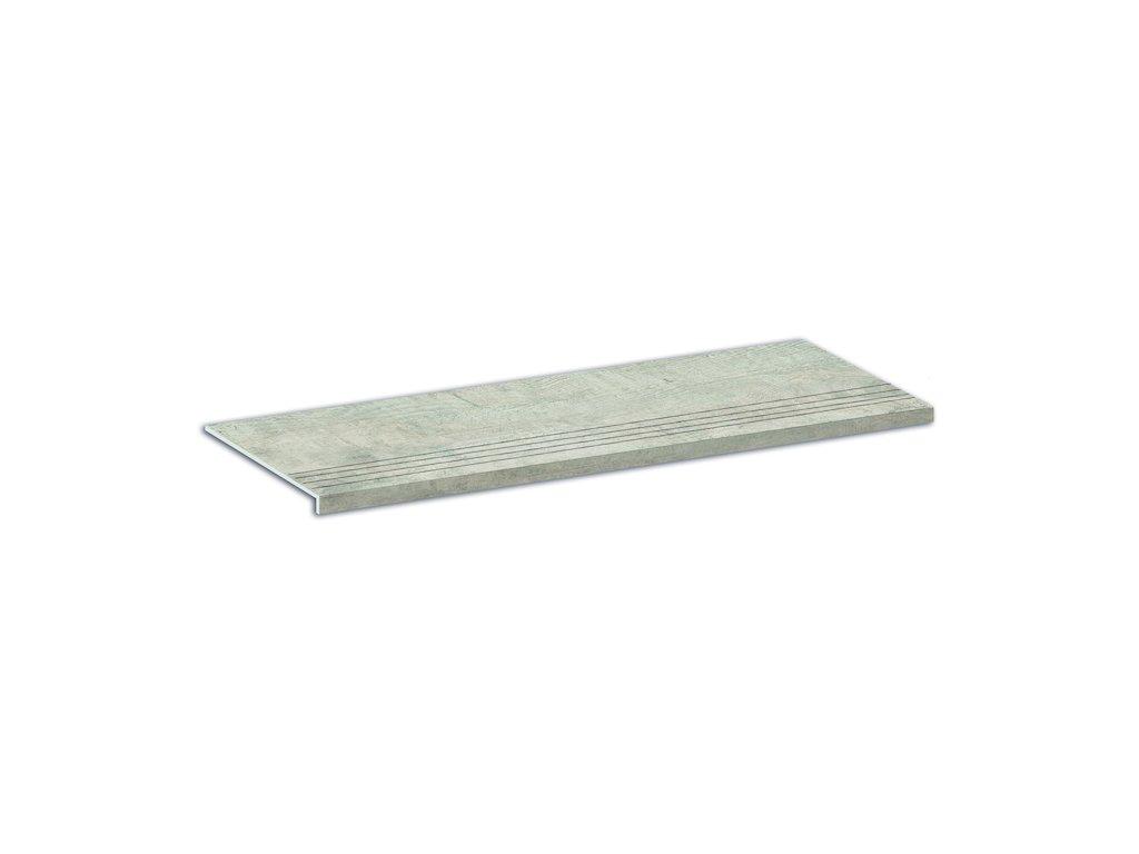 Schodovka Aspen, 24,6x101 cm, silver grey, mat, rektifikovaná