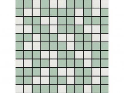 Rosa zelena mozaika web