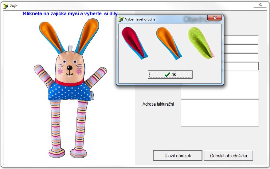 Aplikace slož si hračku