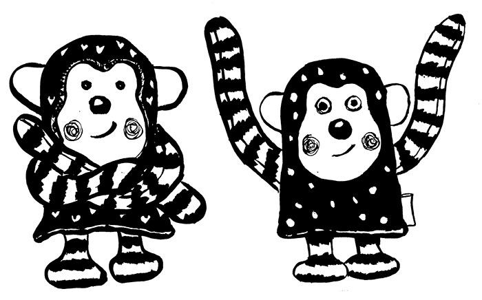 černobílé obrázky pro novorozence