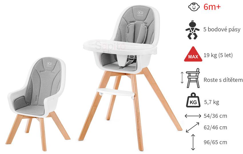 Dětská jídelní židlička Kinderkraft