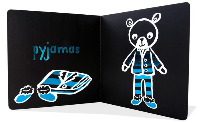 kontrastní karty pro novorozence - les