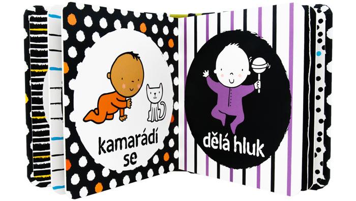 černobílá kniha pro miminka