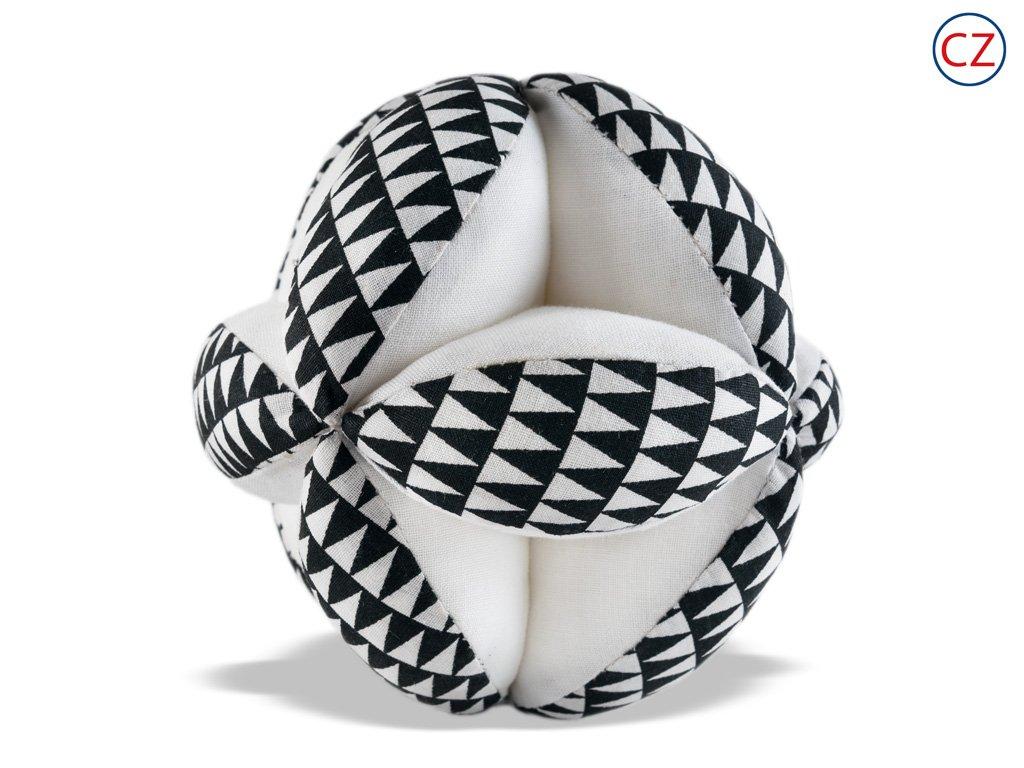 Černobílá hračka - Úchopový míček  - trojúhelníčky