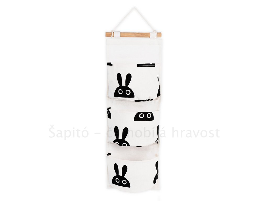 Černobílý kapsář - králíčci
