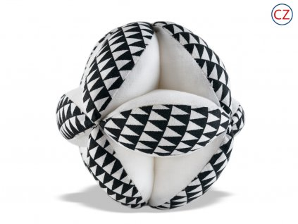 Černobílá hračka - Úchopový míček 03  Chrastítko